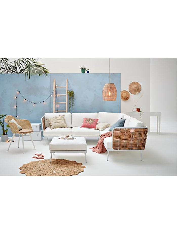 Outdoor-Sofa, inklusive Hocker