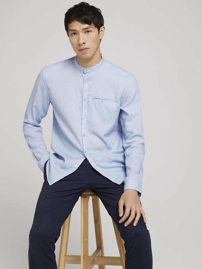 Tom Tailor Denim strukturiertes Hemd, lightblue white dobby structur