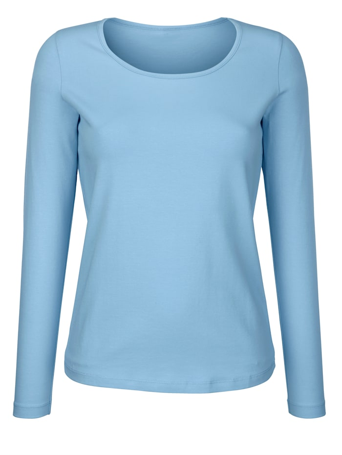 Dress In Shirt mit hohem Baumwollanteil, Hellblau