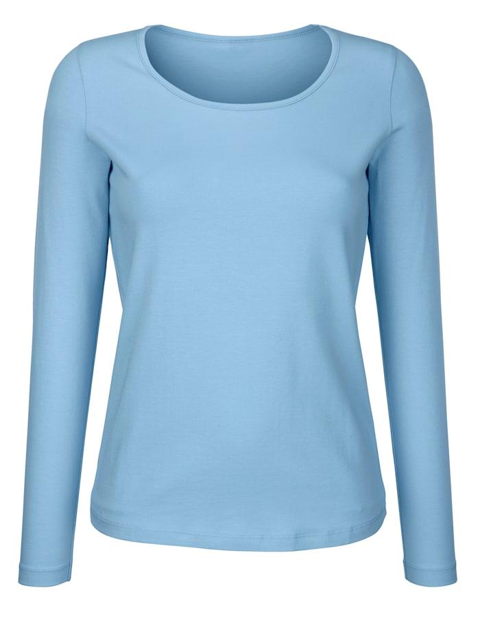 Dress In Tričko s vysokým podielom bavlny, Svetlomodrá
