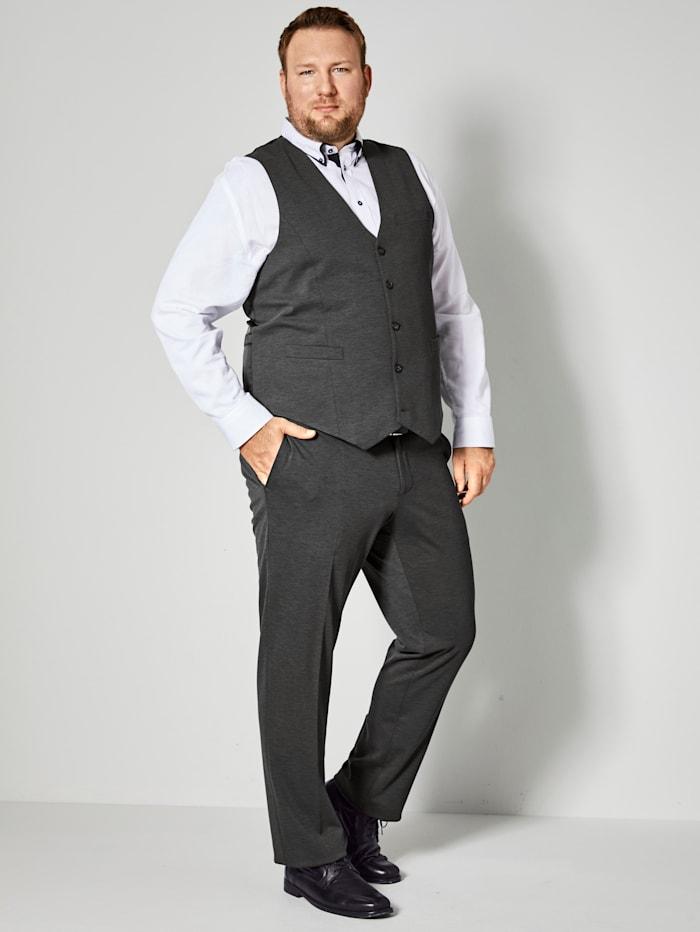Men Plus Overhemd met speciale pasvorm, Wit/Zwart