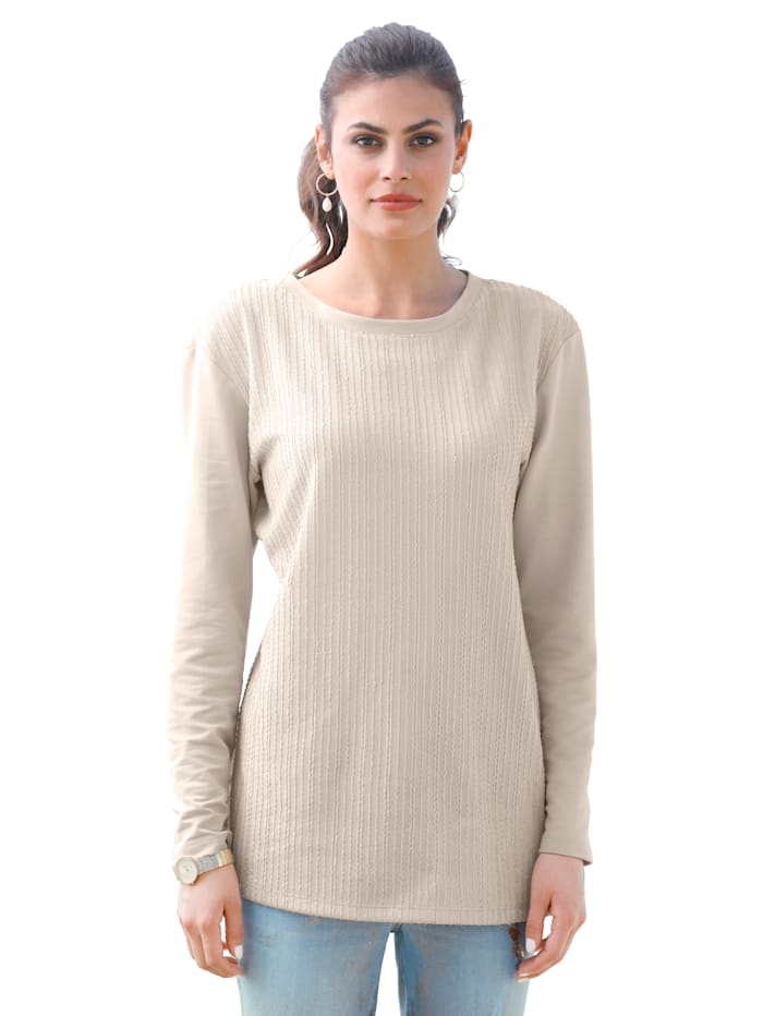 AMY VERMONT Sweat-shirt de coupe classique, Beige