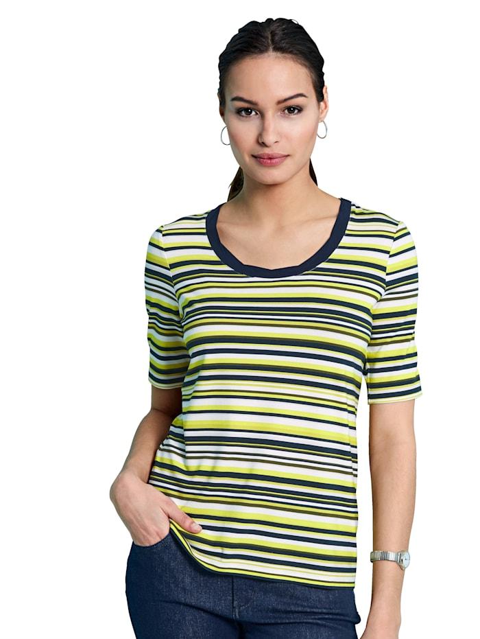 Betty Barclay Shirt met klassiek streeppatroon, Marine/Groen