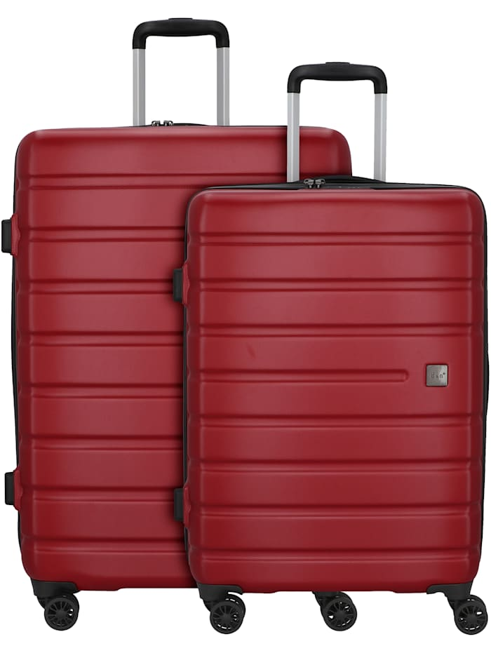 D&N Travel Line 2202 4-Rollen Kofferset 2tlg. 2-teilig, rot