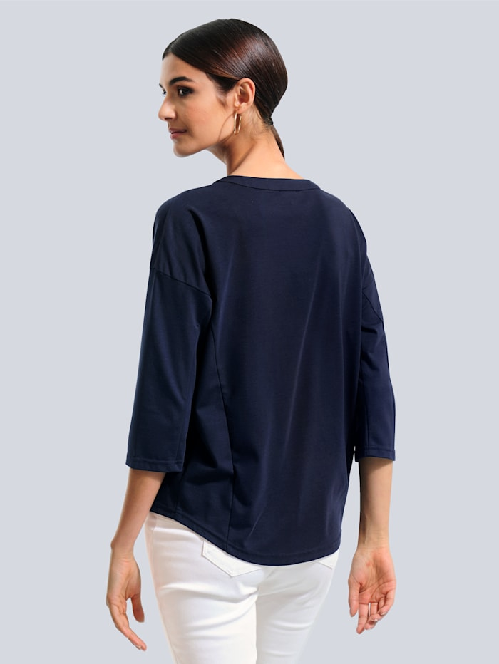 Shirt in leichter Oversized-Form