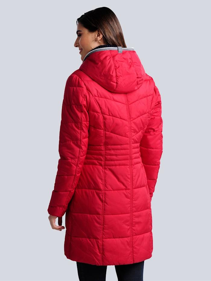 Gewatteerde jas met hoogsluitbare rits