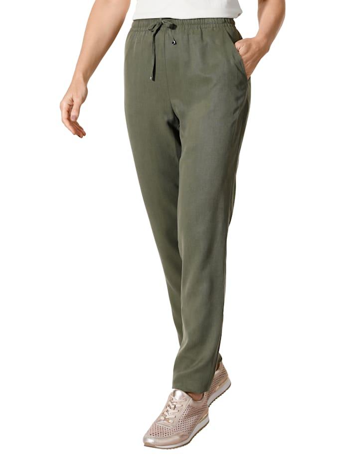 MONA Pantalon en Tencel, Olive