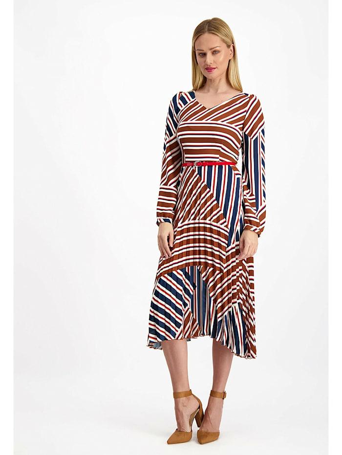 LAVARD Kleid mit geometrischen Mustern, rot