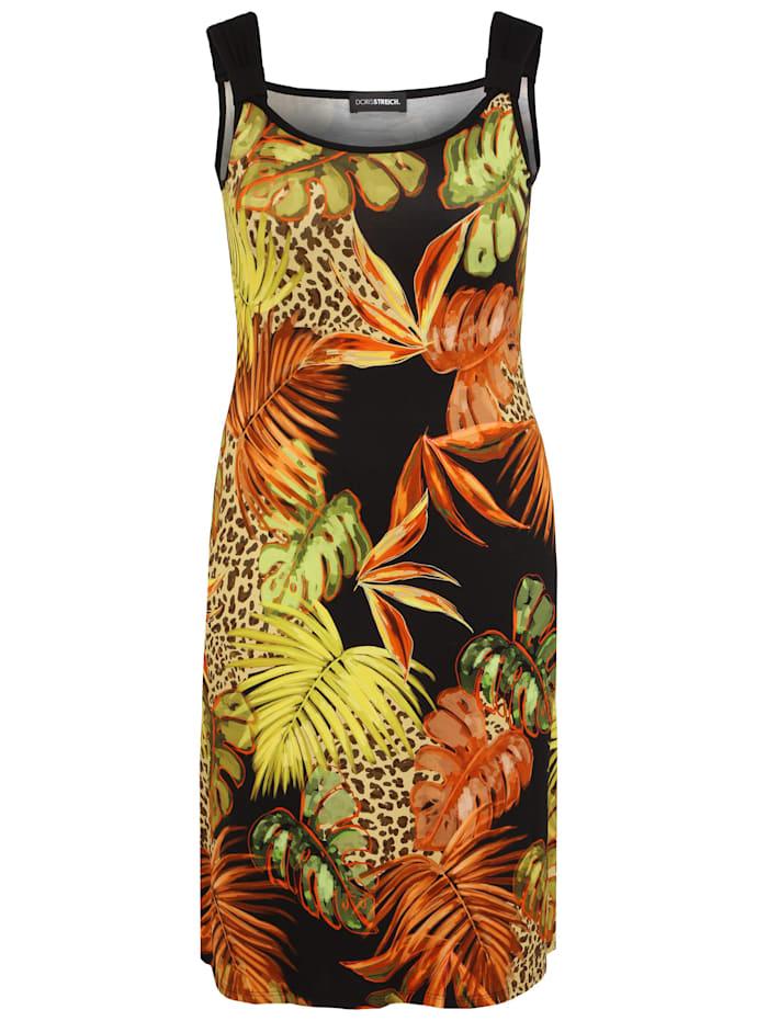 Doris Streich Kleid mit Allover-Print, multicolor