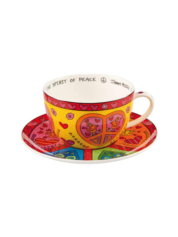 """Goebel Goebel Tee-/ Cappuccinotasse James Rizzi - """"The Spirit of Peace"""", Rizzi - The Spirit of Peace"""