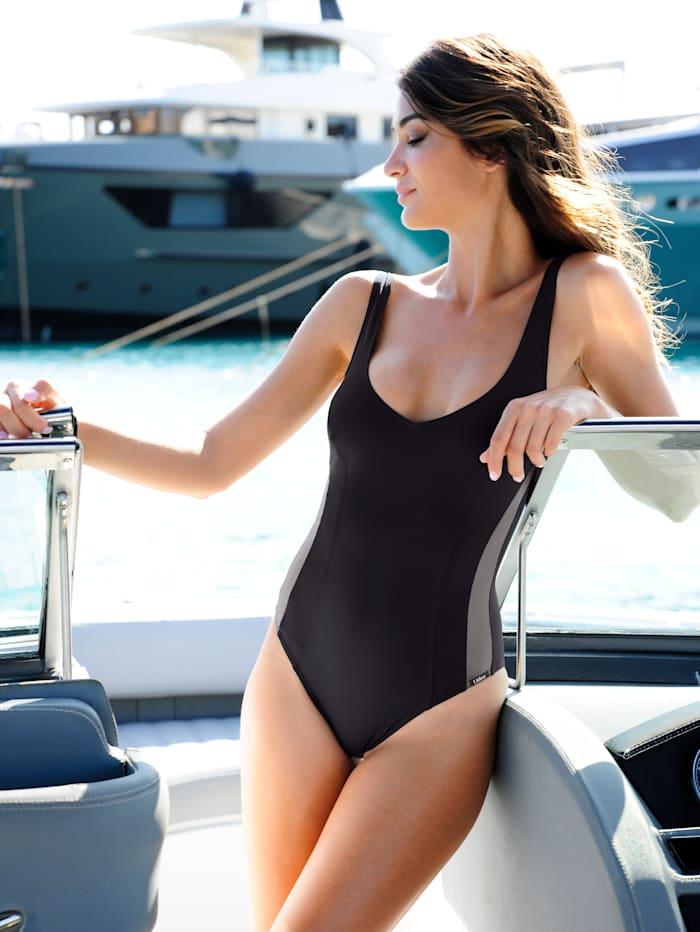 Lidea Badeanzug mit Shape-Effekt, Schwarz