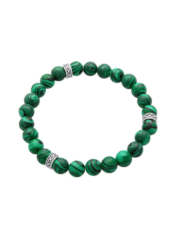 Armband Herren Oxidiert Achat Matt Grün Look 925Er Silber