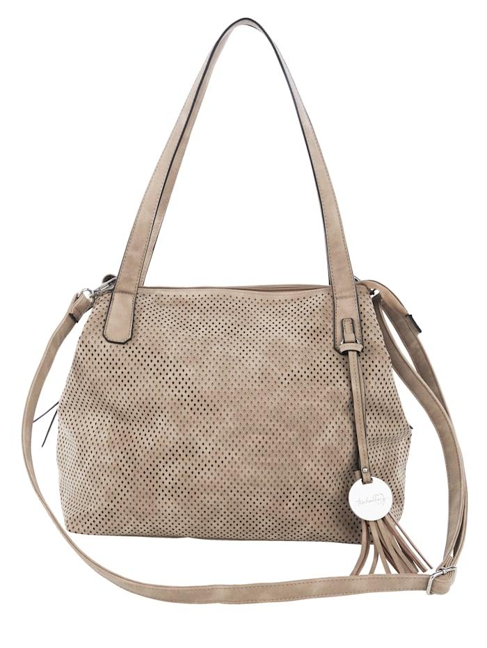 Taschenherz Väska med perforeringar, Sand