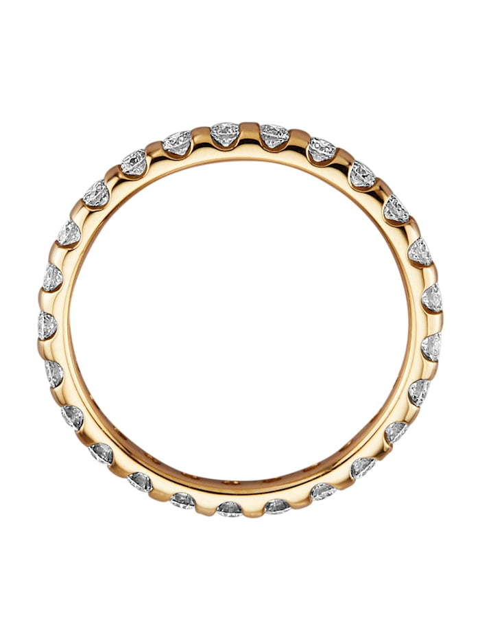 Kultainen muistosormus timanteilla