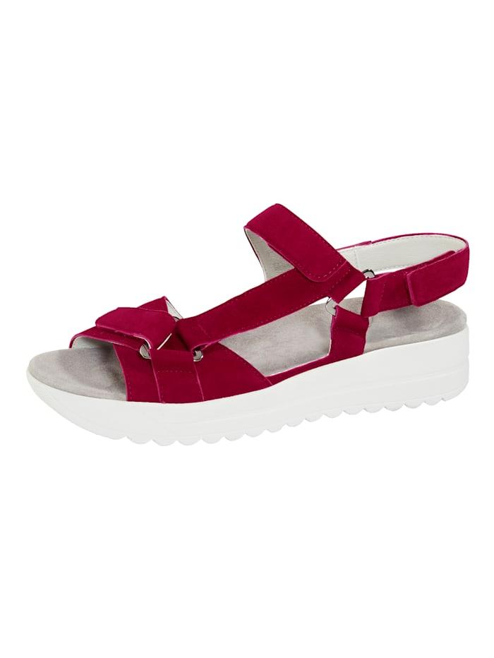 Vamos Sandale mit Luftpolsterlaufsohle, Rot