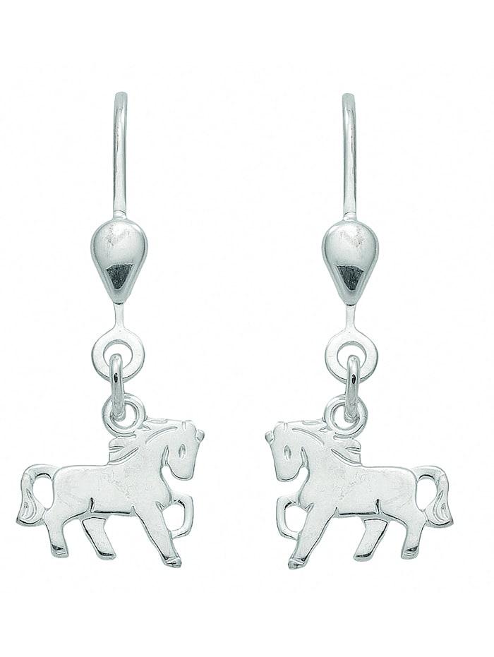 1001 Diamonds Damen Silberschmuck 925 Silber Ohrringe / Ohrhänger Pferd, silber