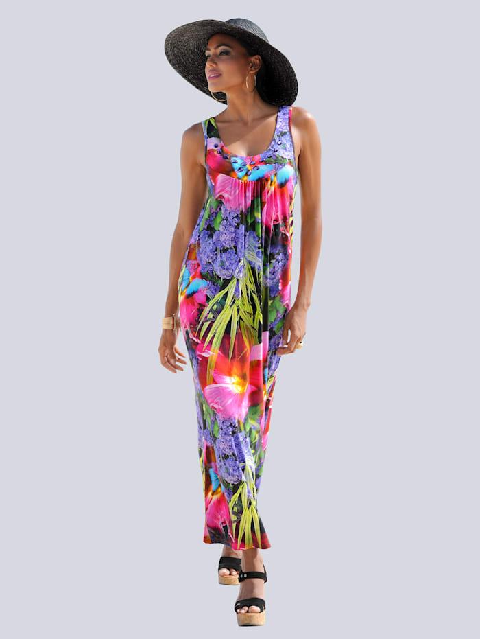 Alba Moda Strandkleid in tropischer Farbigkeit, multicolor