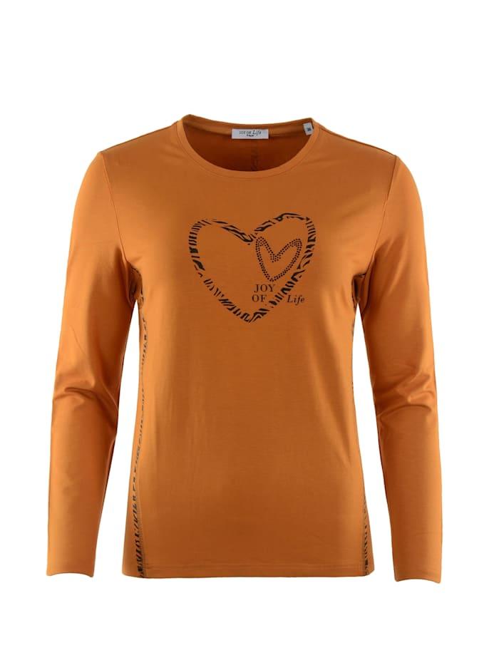 Hajo Shirt mit Folienapplikation, zimt