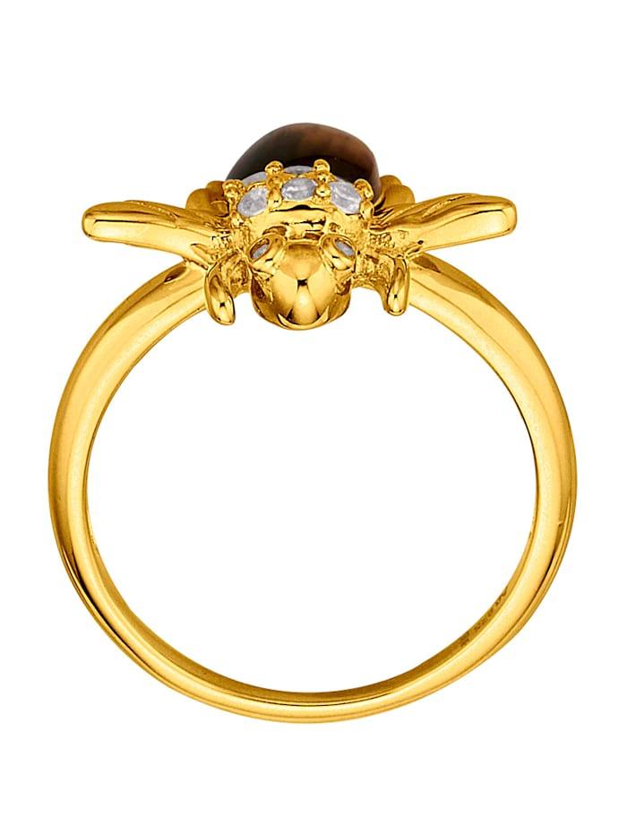 Bienen-Ring mit Tigerauge
