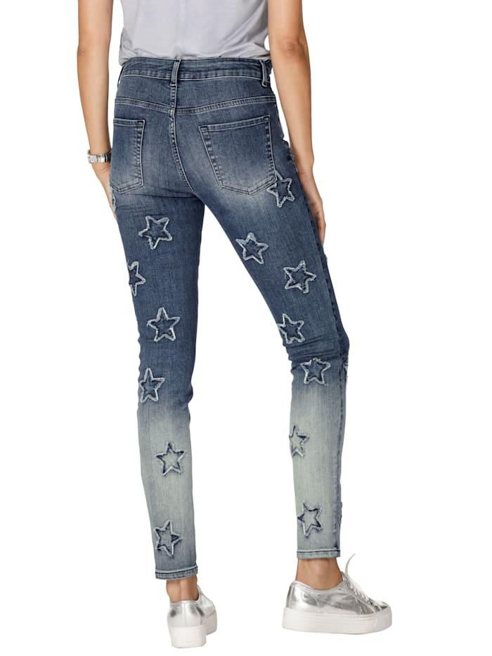 Jeans met sterren en strassteentjes