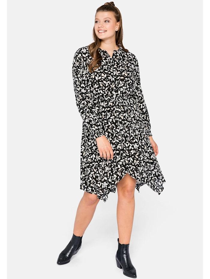 Sheego Sheego Kleid in Zipfelform, schwarz bedruckt