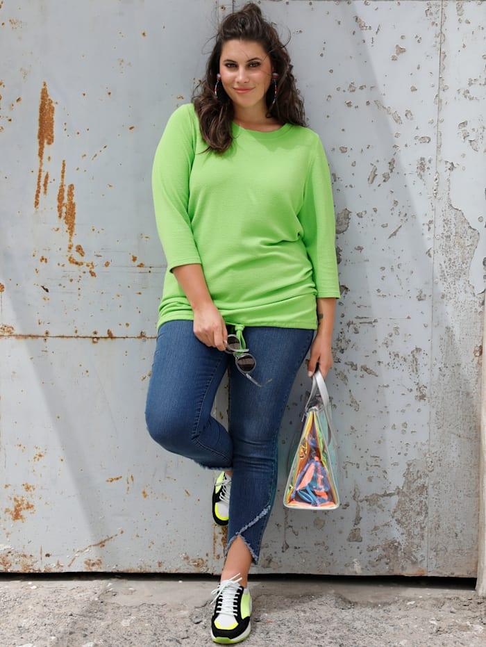 MIAMODA Shirt aus schöner, strukturierter Ware, Limettengrün