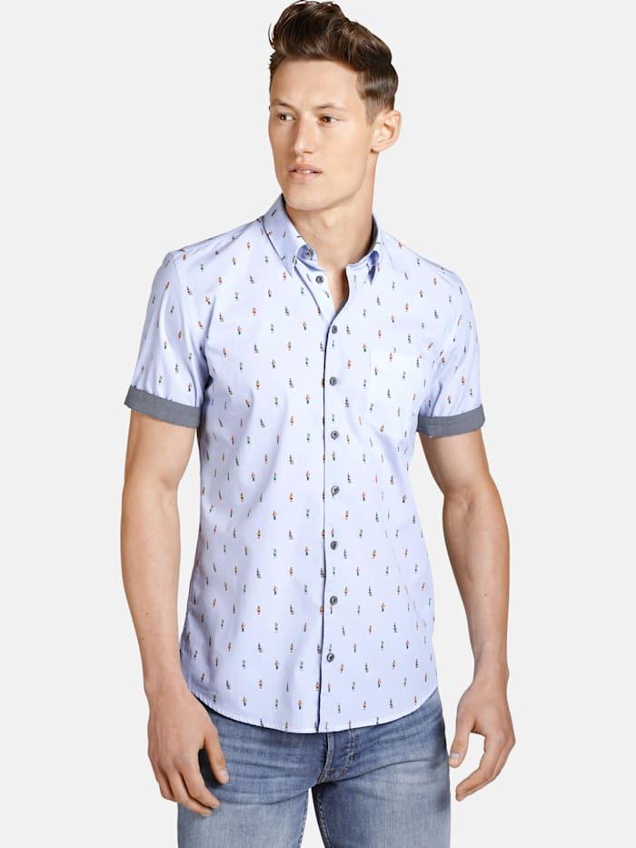 Shirtmaster Shirtmaster Kurzarmhemd thewanderer, hellblau