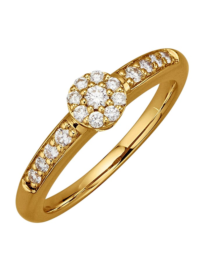 Diemer Diamant Damenring mit 17 Brillanten, Weiß