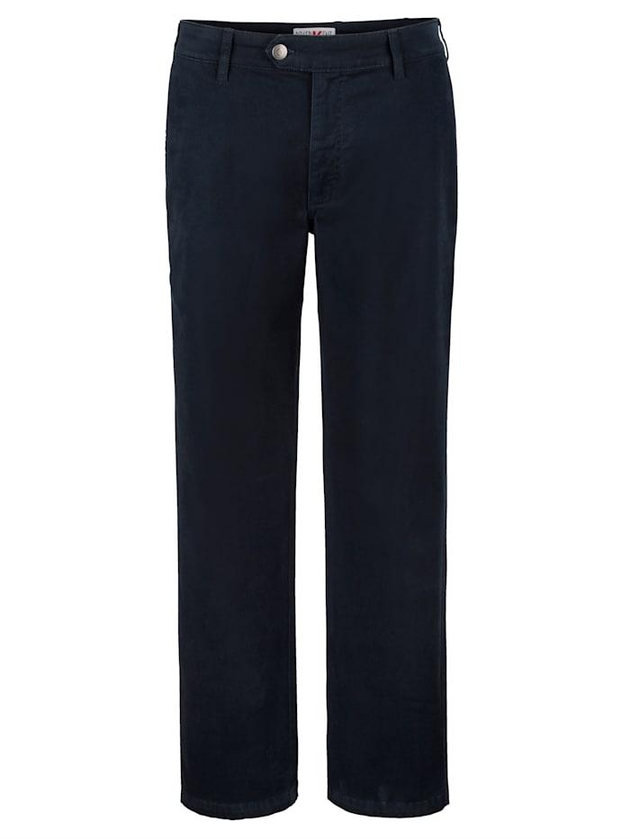 Roger Kent Flatfronthose in wärmender Qualität, Marineblau
