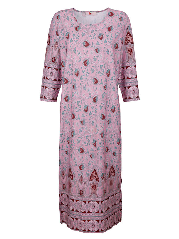 Hauskleid mit hübschem Bordürendruck