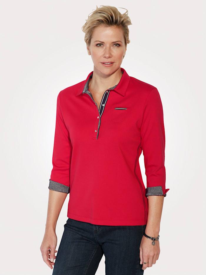 Rabe Poloshirt aus reiner Baumwolle, Rot