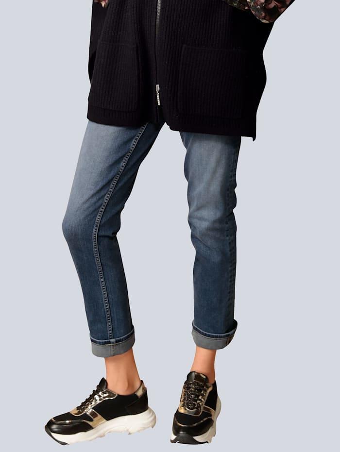 Rosner Jeans mit Saum zum Umschlagen, Blau