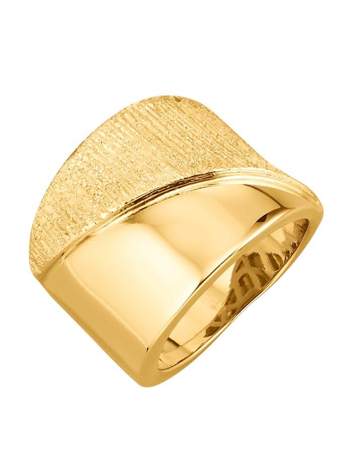 Diemer Gold Bague en or jaune 585, Coloris or jaune