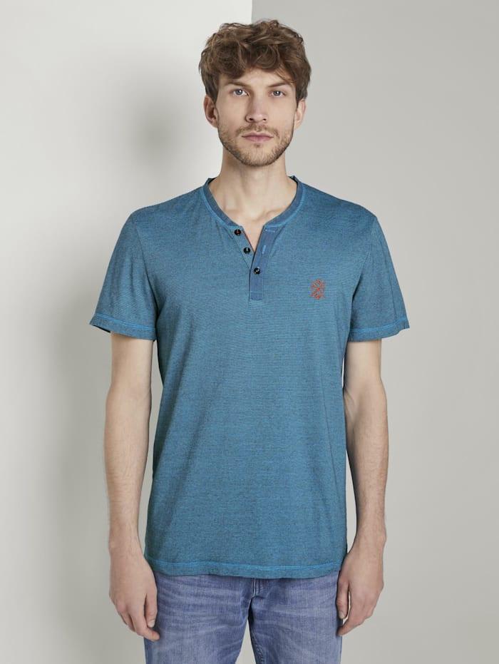 Serafino T-Shirt mit Farbmusterung