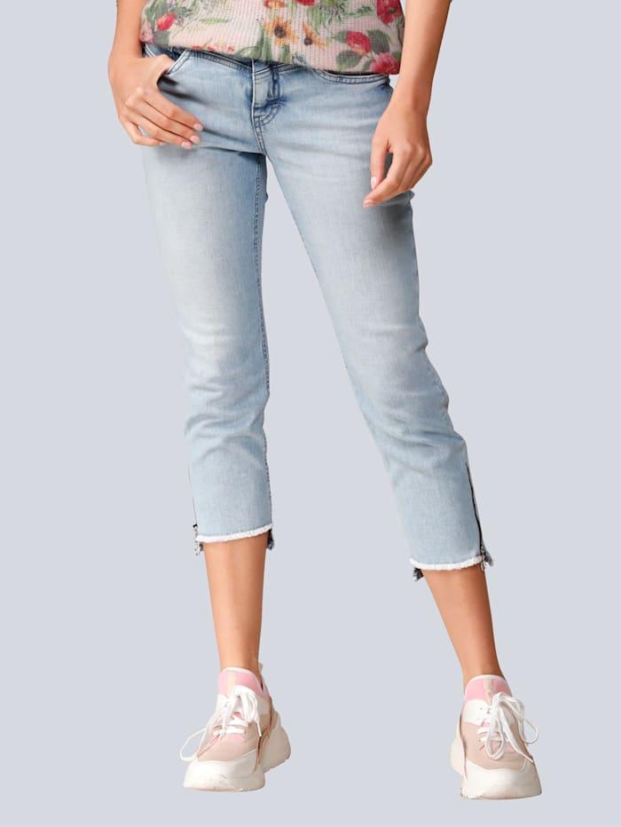 MAC Jeans mit Destroyed Effekten, Blue bleached