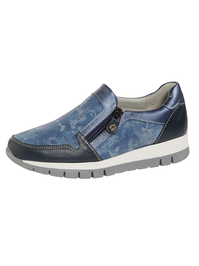 Naturläufer Slipper mit seitlichem Reißverschluss, Blau