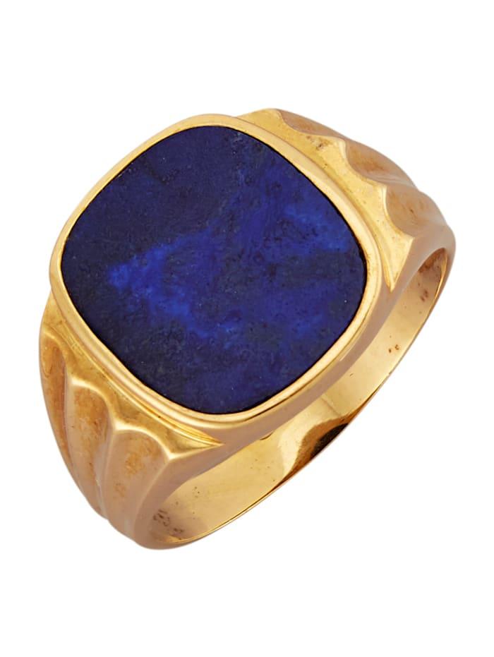 Bague homme à lapis-lazuli, Bleu