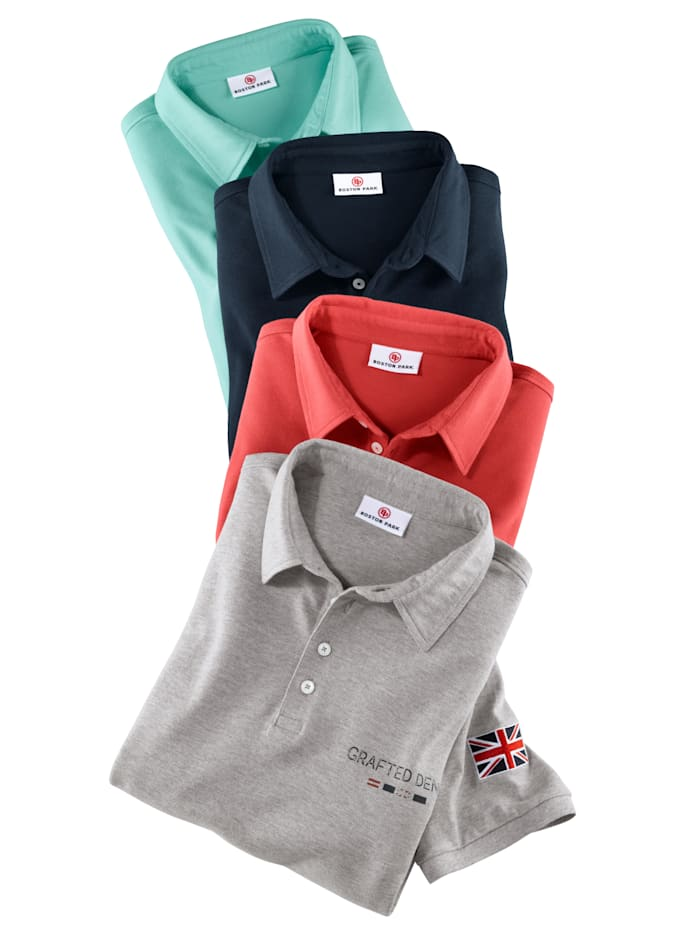 Poloshirt met contrastprint en embleem