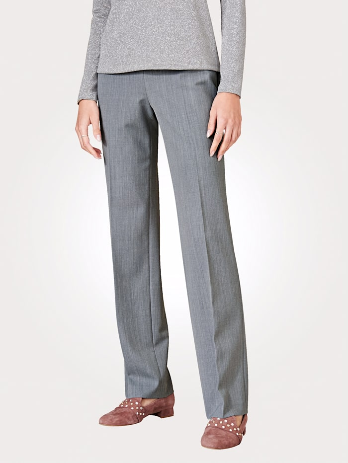 Artigiano Pantalon en laine mélangée italienne, Gris clair