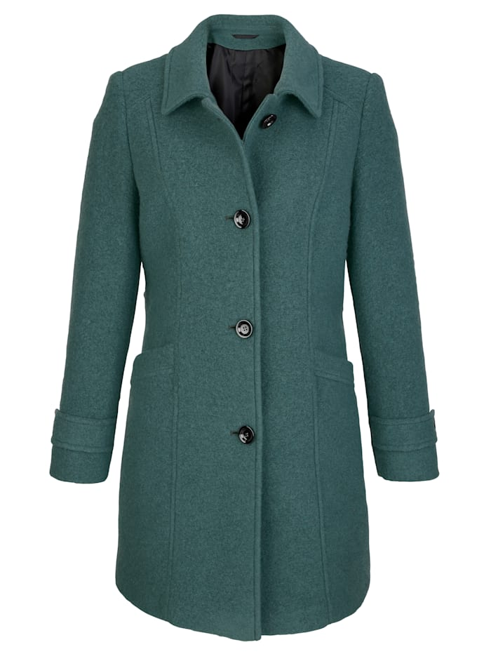 Wool-blend jacket made from a warm woollen fabric