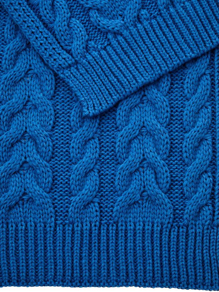 Sjaal met kabelpatroon