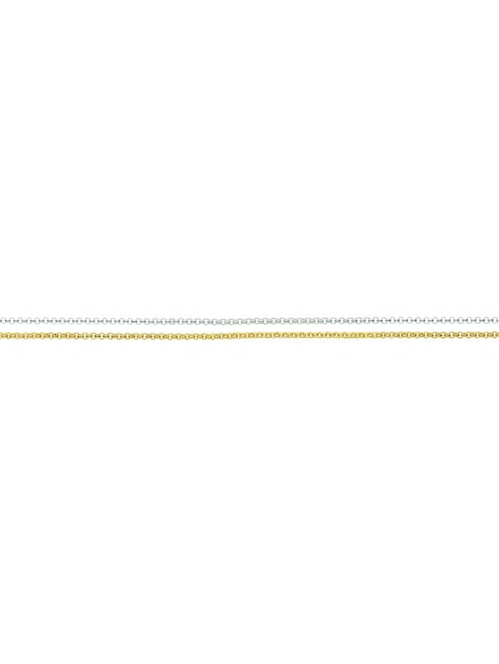 1001 Diamonds Damen Silberschmuck 925 Silber Anker Halskette 45 cm Ø 1,5 mm, vergoldet
