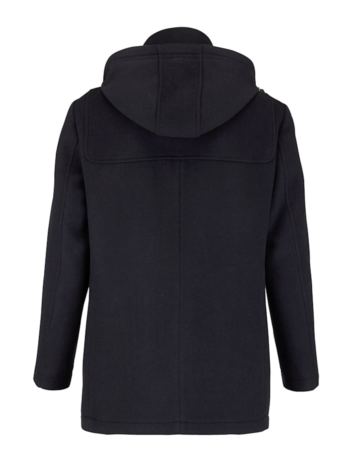 Dufflecoat met elegante wol