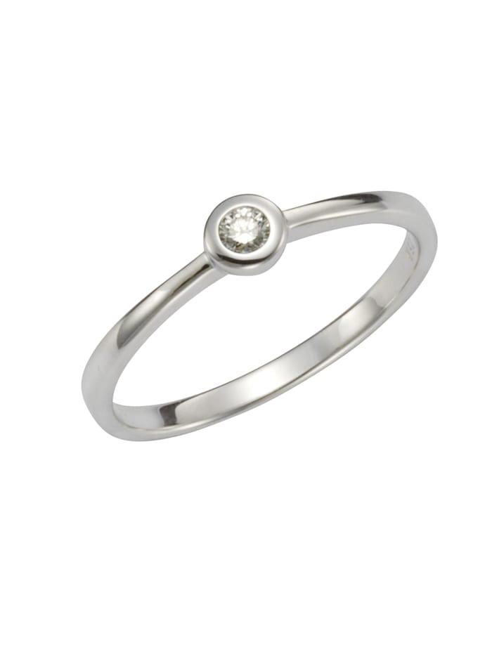 Orolino Ring 585/- Gold Brillant weiß Brillant Glänzend 0,07ct. 585/- Gold, weiß