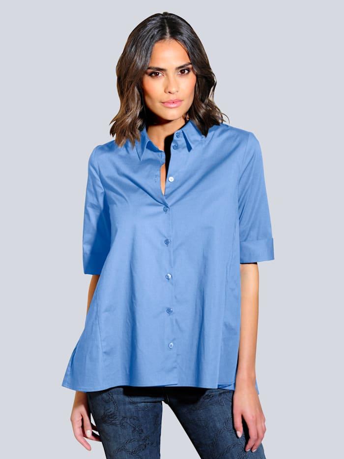 Alba Moda Bluse in ausgestellter Form, Hellblau