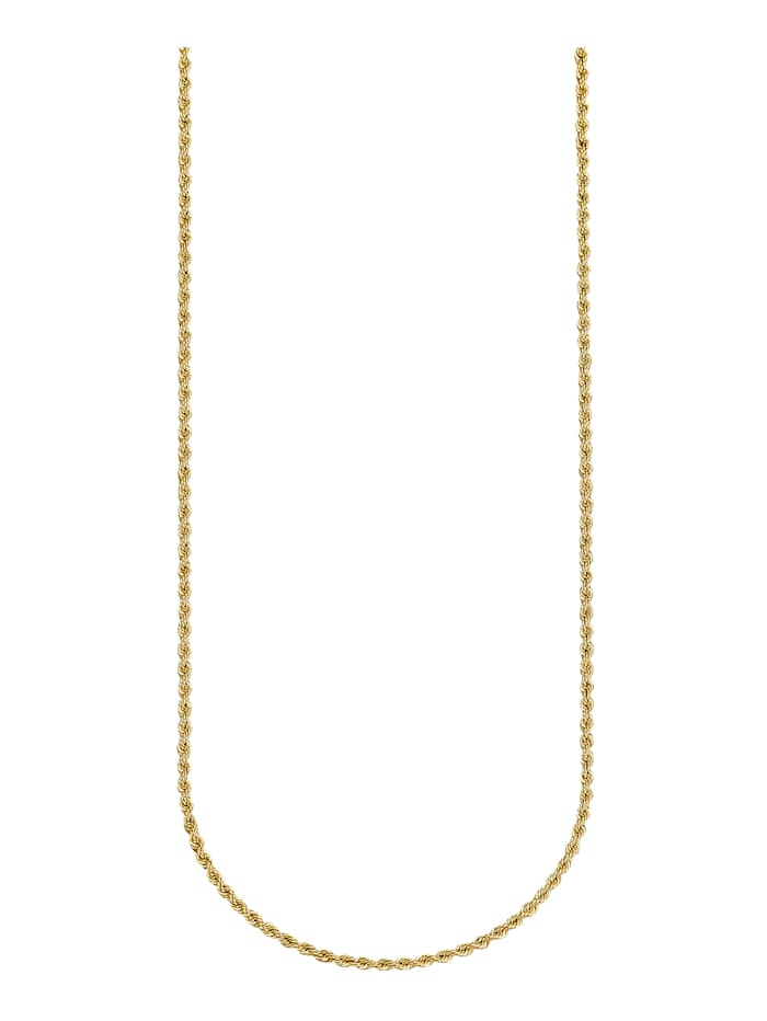 Amara Highlights Chaîne maille cordon en or jaune 750, Coloris or jaune