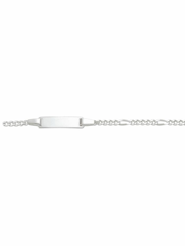 1001 Diamonds 1001 Diamonds Damen Silberschmuck 925 Silber Figaro Armband 16 cm, silber