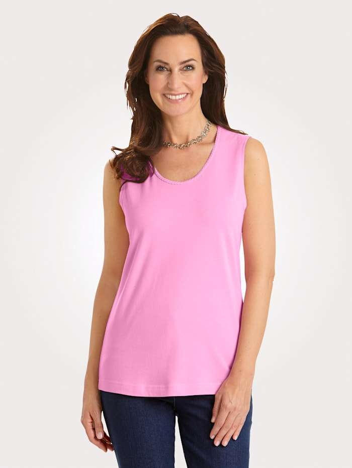 Top with Pima cotton