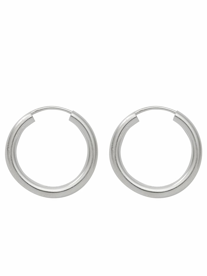 1001 Diamonds 1001 Diamonds Damen Silberschmuck 925 Silber Ohrringe / Creolen Ø 30 mm, silber