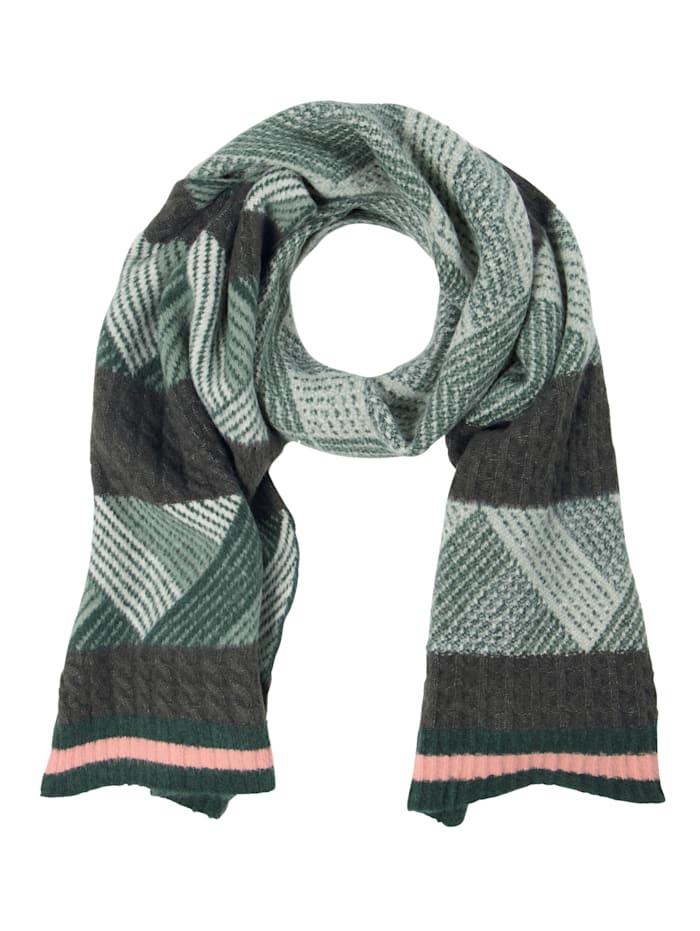 Barts Schal, grün-schwarz